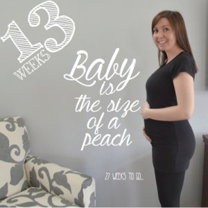 My baby bump week to week: week 13