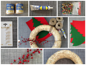 DIY Twine Wrapped Christmas Wreath Supplies