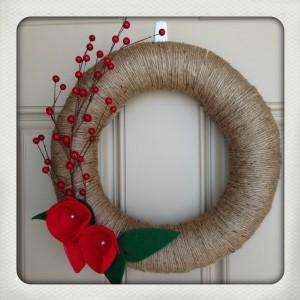 DIY Twine Wrapped Christmas Wreath