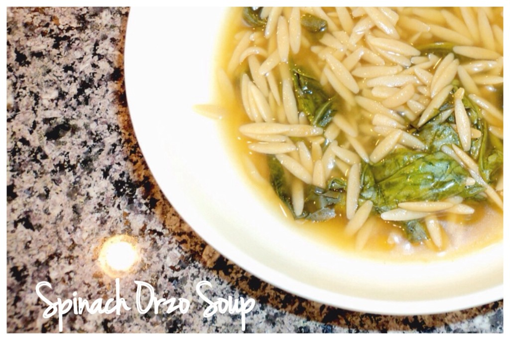 Simple, Delicious Spinach and Orzo Soup