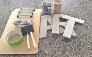 DIY Art Display Supplies