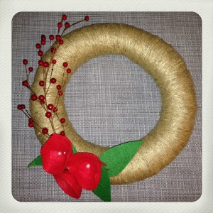 finished DIY Christmas Wreath