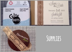 Supplies for DIY Save the Dates