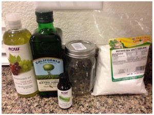 DIY Salt Scrub Ingredients
