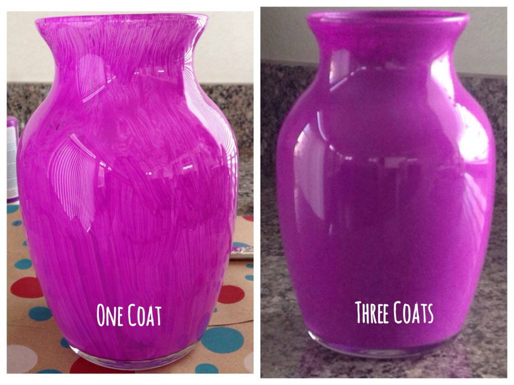 Diy painted glass vases runaway teacher for What can you paint glass with