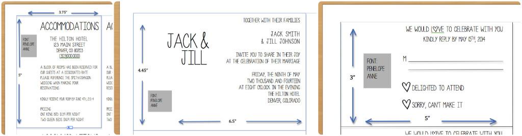 Formatting Specs for Invitations