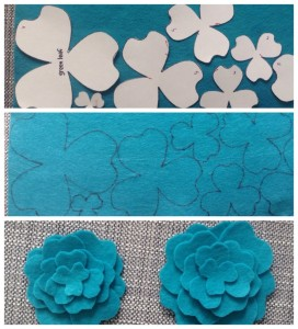 Making your own felt flowers