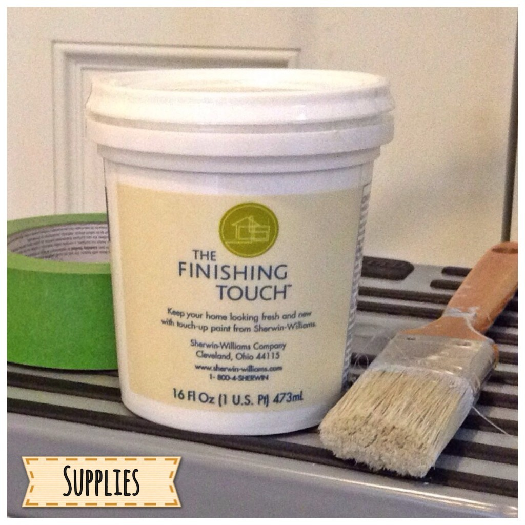 Supplies for painting textured walls