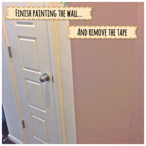 Third step to painting textured walls