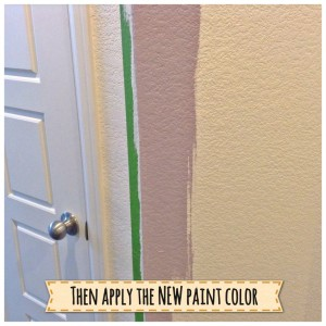 Second step to painting textured walls