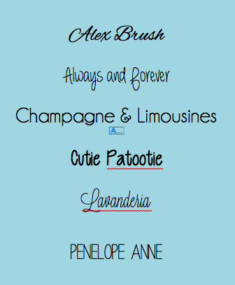 Great fonts for wedding invitations