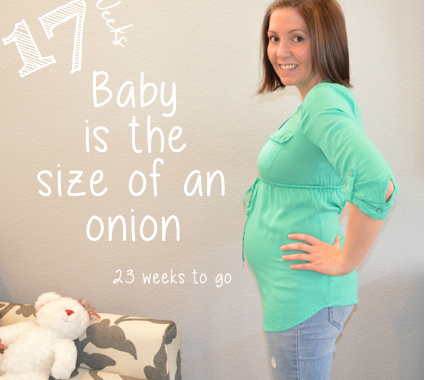 My baby bump week to week, Week 17
