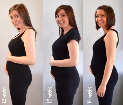 Baby bump progress week to week