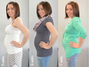 Baby bump week to week