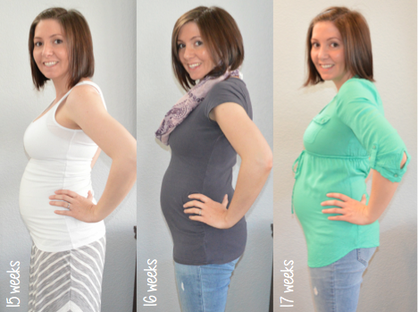 Baby bump week to week