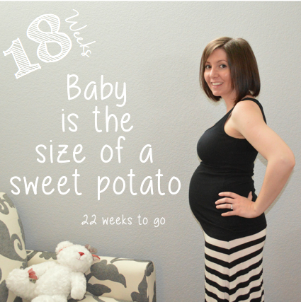 Week 18: My baby bump week to week