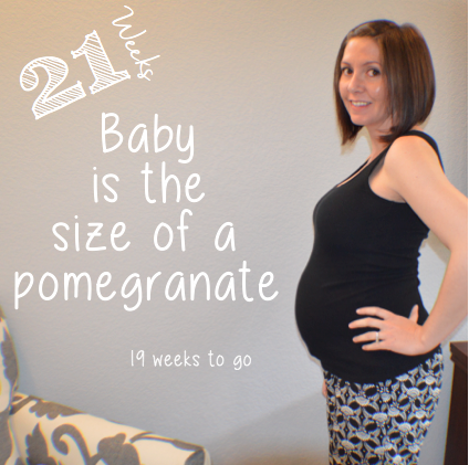 Pregnancy progression, week 21