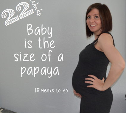 22 week baby bump