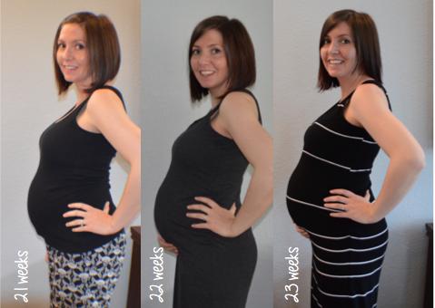 My Baby Bump Week to Week: 23 Weeks - Runaway Teacher
