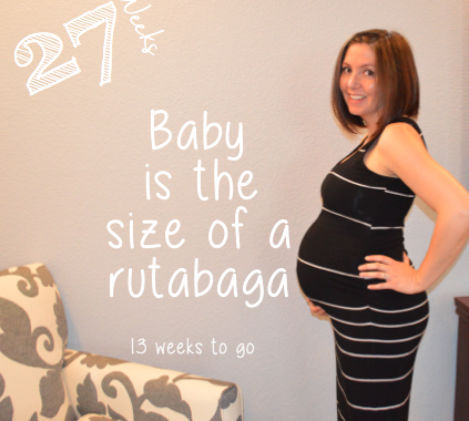 Baby bump week to week 27 Weeks