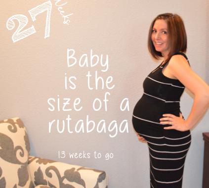 Baby bump week to week 27 Weeks