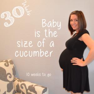 30 week baby bump