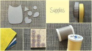 supplies for baby felt animal mobile