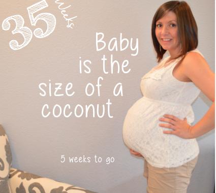 35 week baby bump