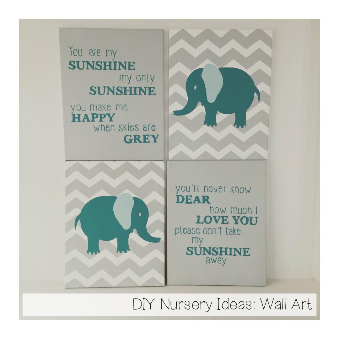 DIY Nursery Ideas Wall Art Runaway Teacher
