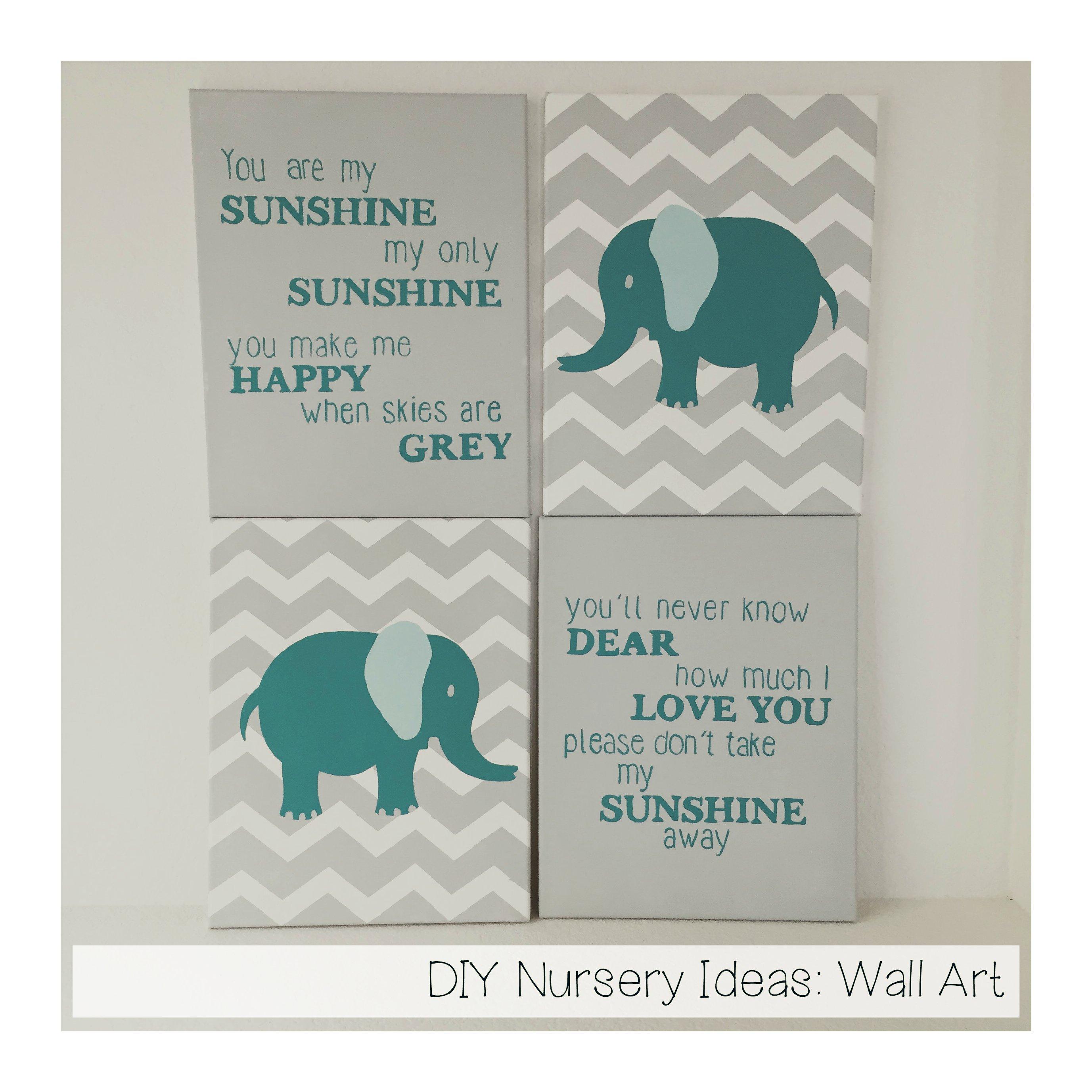Nursery Handmade Ideas: DIY Nursery Ideas: Wall Art