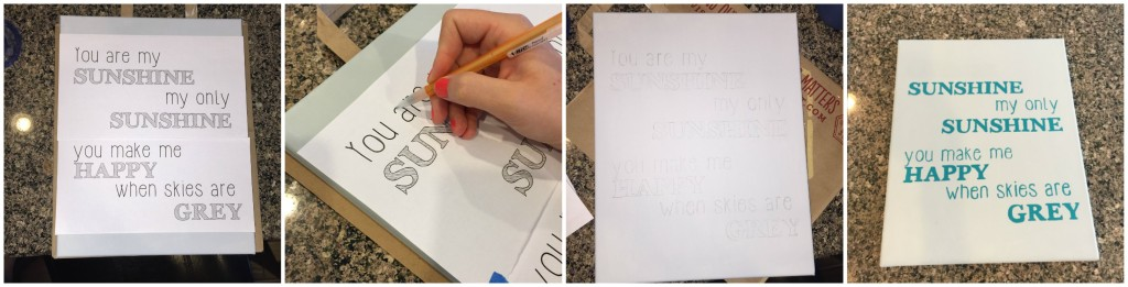 Transferring lettering to canvas Part 2