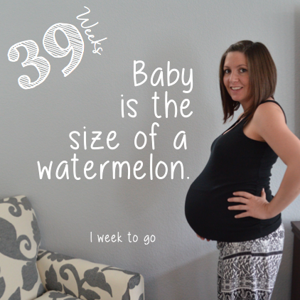 39 Weeks Pregnant baby bump