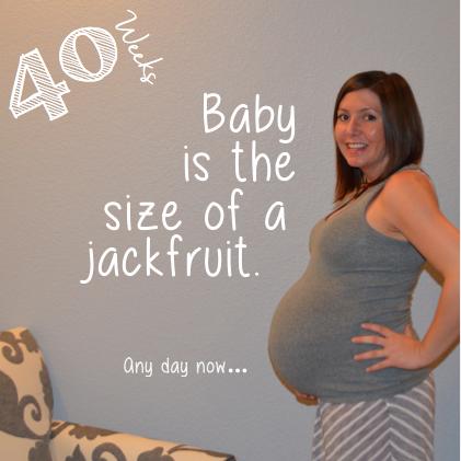 40 week baby bump