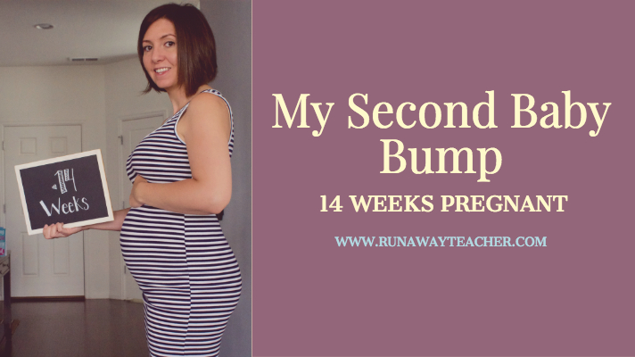 I am so excited to be documenting this baby bump week-to-week, like I did  with the first! I am getting a later start this time around, at 14 weeks ...